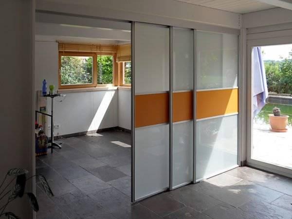 Варианты дверей купе для встроенных шкафов, их особенности