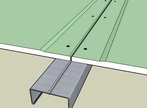 Как заделывать шов на гипсокартоне между стеной и потолком
