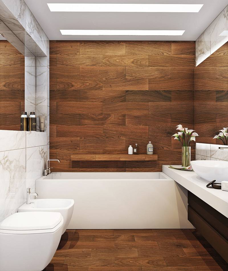 Плитка для ванной комнаты: 114 фото и 6 правил дизайна