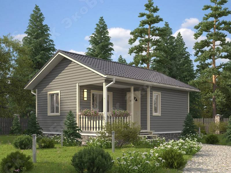 Проекты домов с односкатной крышей – 23 фото + видео