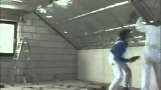 Схема монтажа гипсокартона на потолок массандра с уклоном