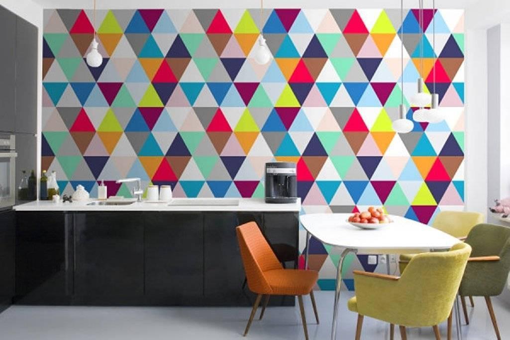 Как использовать геометрию в жилом пространстве, идеи для оформления стен - 25 фото
