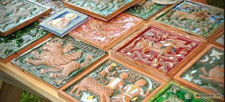 Керамическая плитка для печей и каминов - от задумки до реализации - камины и печи