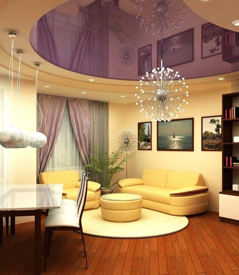 Белый натяжной потолок (90 фото) - матовые и глянцевые фактуры в интерьере комнат