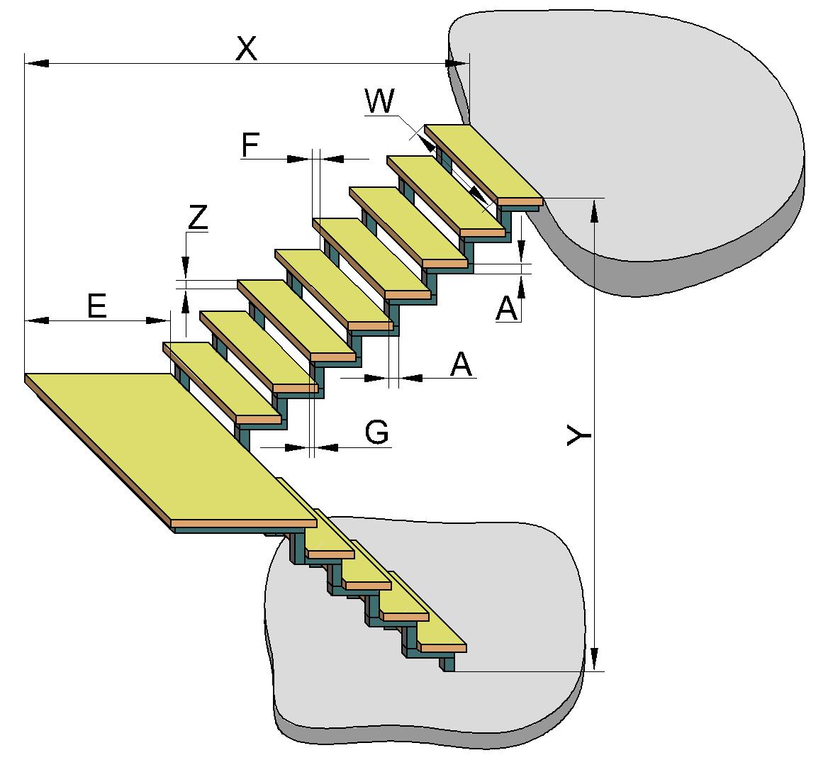 Расчет бетонной лестницы - онлайн калькулятор | perpendicular.pro