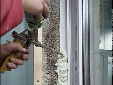 Сколько сохнет монтажная пена после герметизации дверного проема