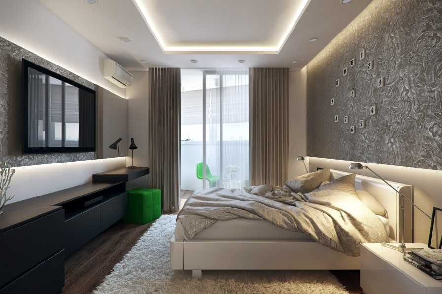 Дизайн и интерьер спальни 4 на 4