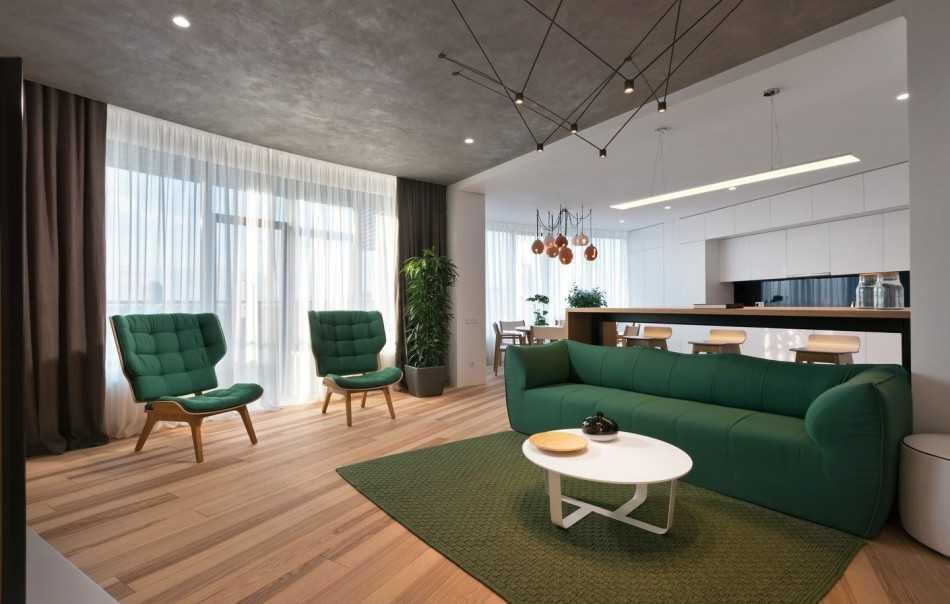 Дизайн однокомнатной квартиры площадью 40 кв.м: примеры оформления интерьера