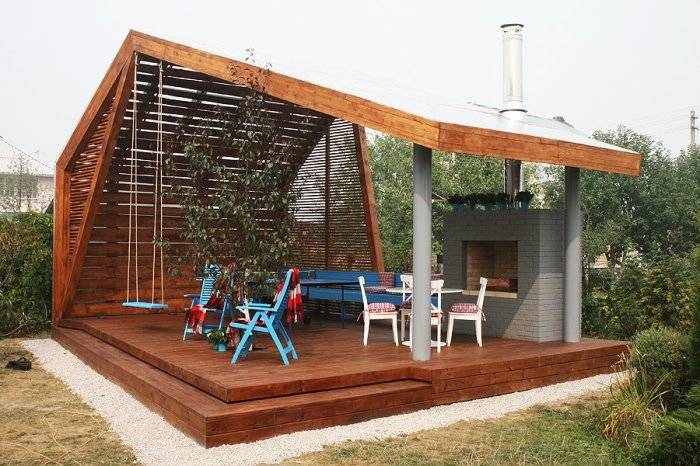 Беседка на даче своими руками (83 фото): чертежи дачной беседки, как построить в саду красивую конструкцию, пошаговое описание монтажа и варианты дизайна