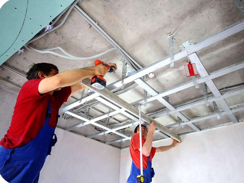 Крепление натяжного потолка к стене из гипсокартона без закладных