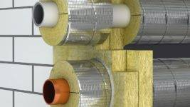 Утеплитель для труб отопления, утепленные трубопроводы на открытом воздухе, монтаж
