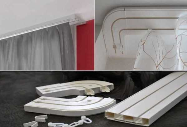 Советы по выбору карниза для штор под натяжной потолок: 50 фотопримеров и видео по монтажу