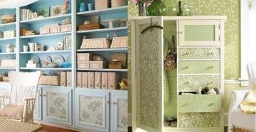 Советы домашним мастерам: как обклеить шкаф обоями?