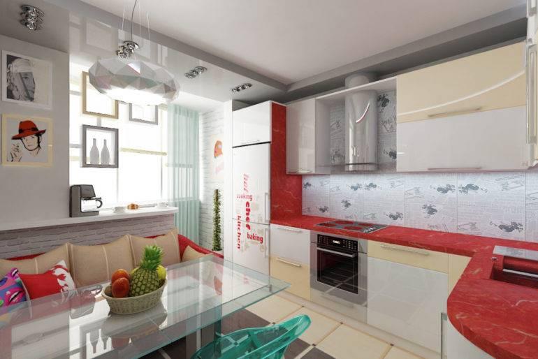 Кухня на лоджии (78 фото): кухня совмещенная с балконом, как объединить