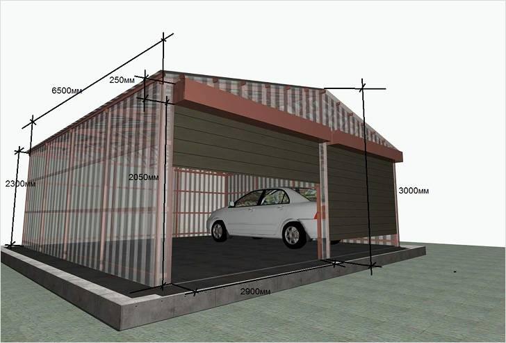 Каркасный гараж — как построить своими руками