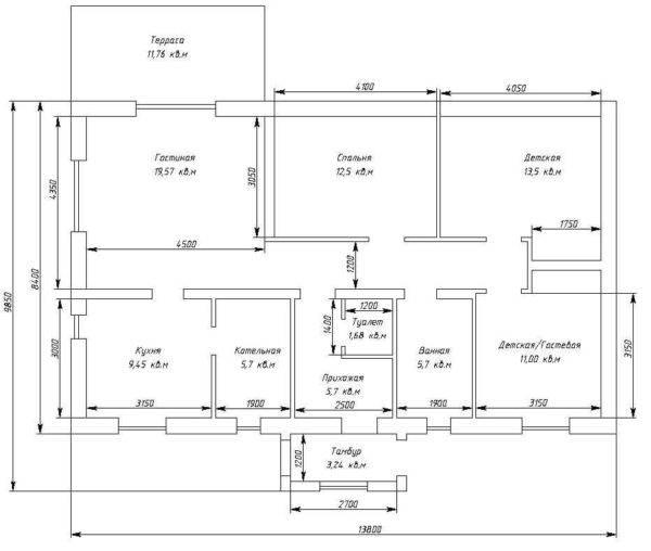 Проекты одноэтажных домов 10 на 10