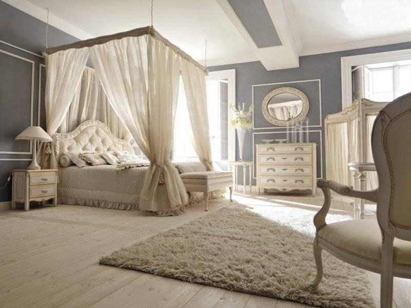 Спальня в стиле барокко — фото шикарного дизайна