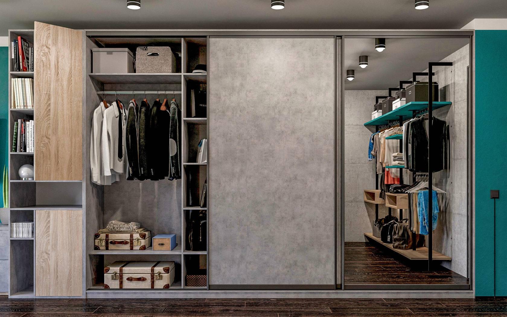 Шкаф-купе в спальню: фото дизайна углового и встроеного, наполнение