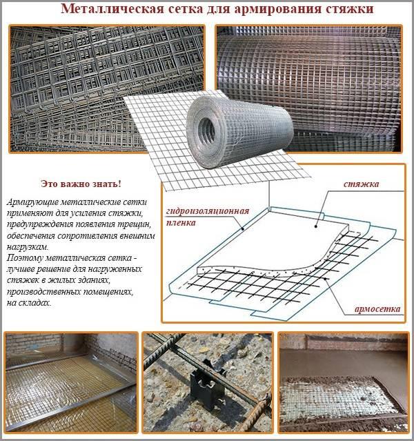 Армирование бетонной стяжки пластиковой сеткой   дом идей