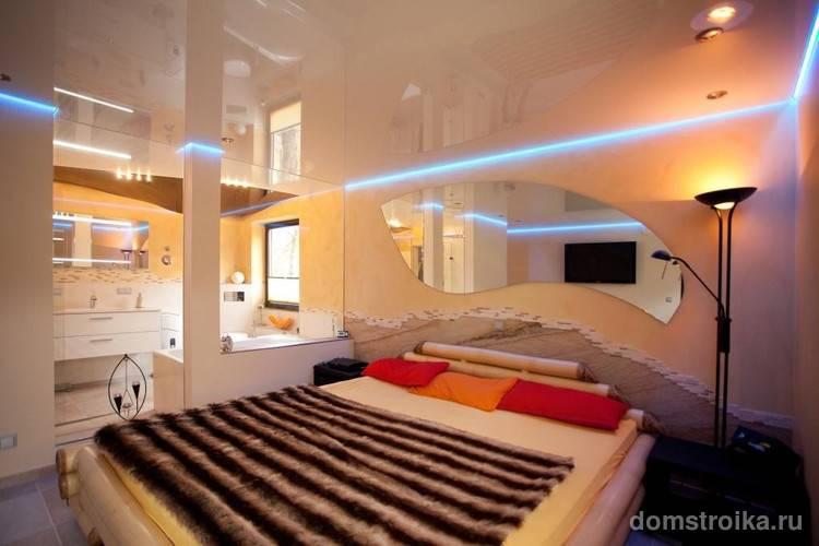 Потолок в спальне — варианты дизайна