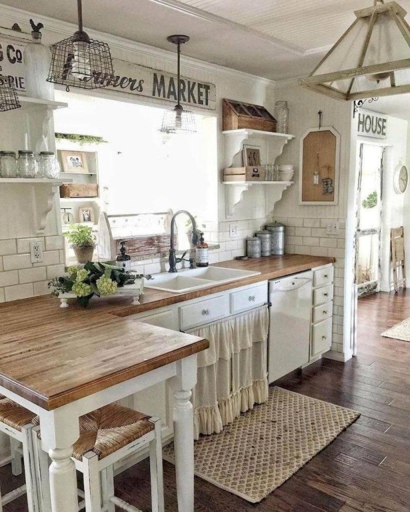 Кухонные шторы в стиле прованс: как выбрать, сделать самостоятельно