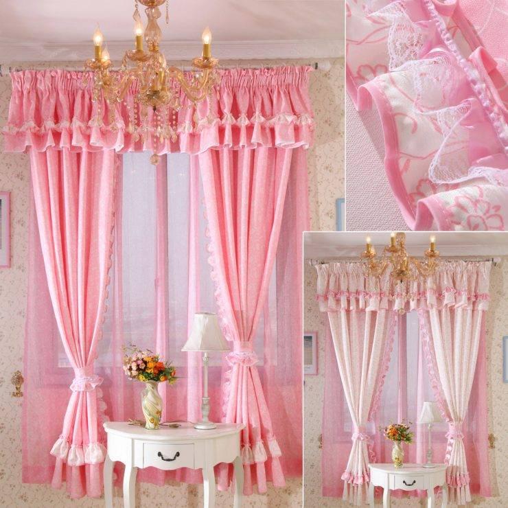 Розовые шторы - 90 фото идей и новинок дизайна