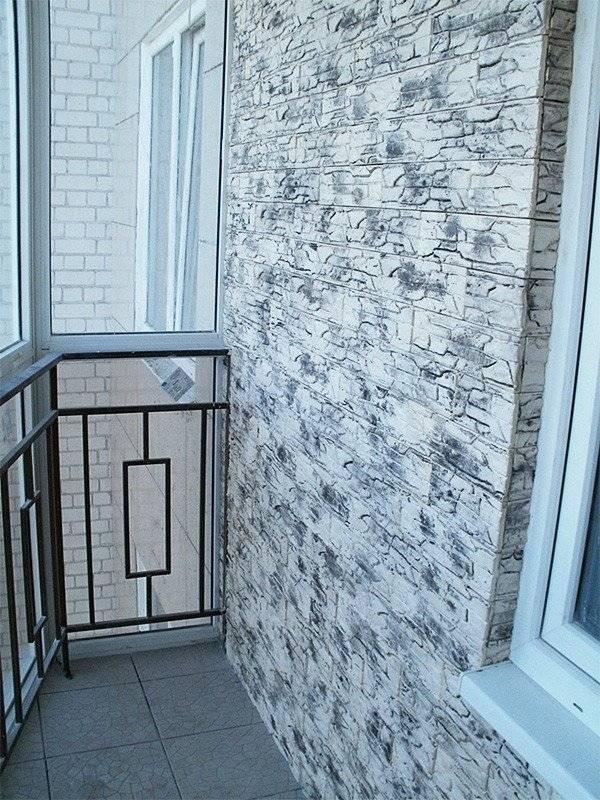 Отделка балкона искусственным камнем, монтаж и уход за декоративным материалом