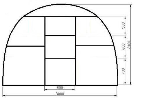 Размеры теплицы: какой выбрать - 3х6 и 3х4 метров, шириной 2 и 4, 5 и 8 м, оптимальные и стандартные параметры