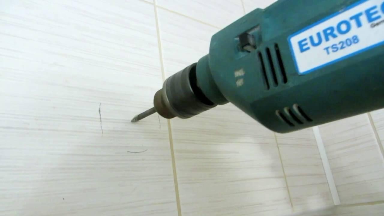 Чем и как просверлить кафельную плитку на стене + видео