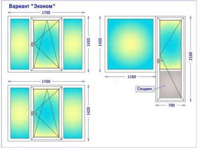 Стандарты размеров окон для домов разных типов