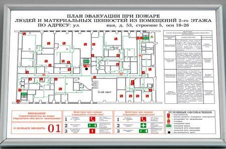 План эвакуации людей при пожаре - готовое решение для   безопасности вашей организации