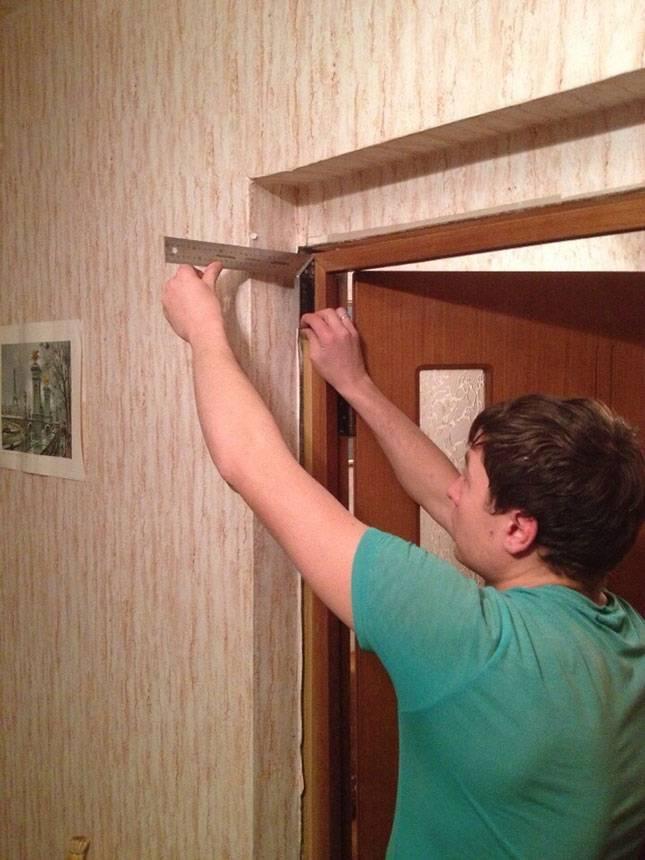 Установка доборов на входную металлическую дверь своими руками: фото, видео