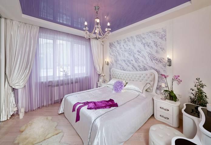 Спальня в фиолетовых тонах: 45 фото, оттенки и сочетания цвета