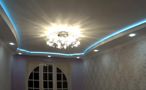 Двухуровневый потолок из гипсокартона, монтаж своими руками, фото, видео, дизайн » интер-ер.ру