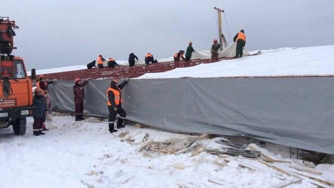 Технология прогрева бетона в зимнее время (видео)