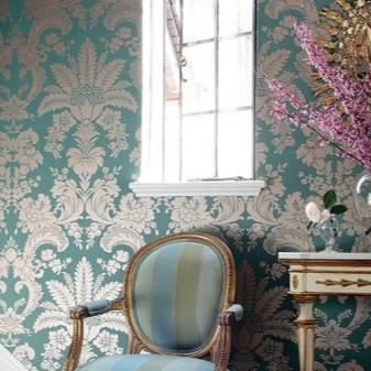 Классические обои (47 фото): модели для стен в стиле неоклассика, американские варианты в современной классике интерьера
