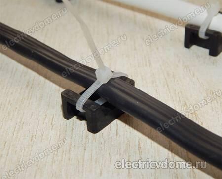 Крепление и крепеж для кабеля, как монтировать провода
