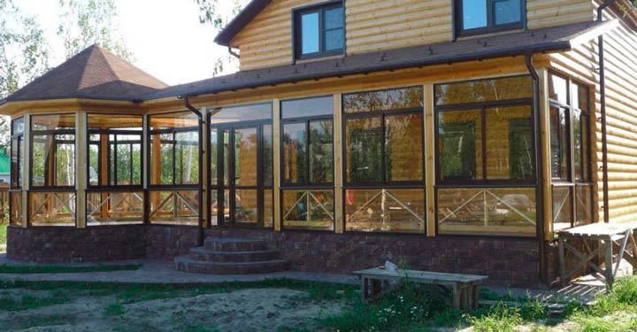 Веранда пристроенная к дому своими руками: закрытая и открытая