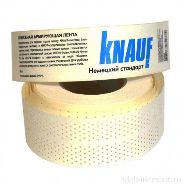 Применение армирующей ленты для гипсокартона