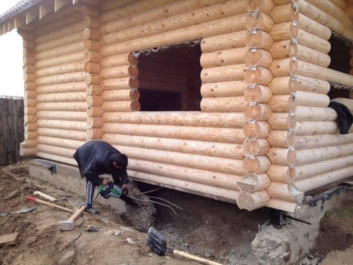 Как сделать фундамент под сруб дома своими руками: надежные варианты  видео и фото