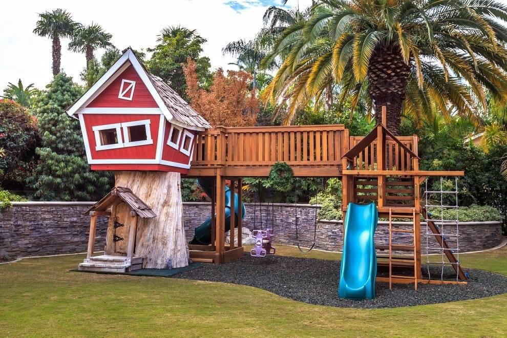Детская площадка своими руками: из подручных материалов, идеи