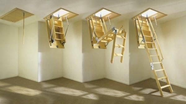 Чердачная лестница с люком своими руками: инструкции, чертежи, примеры