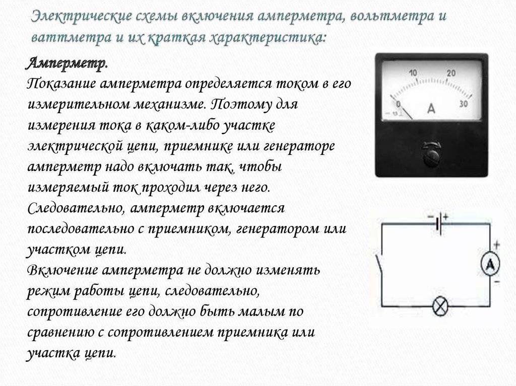 Установка амперметра