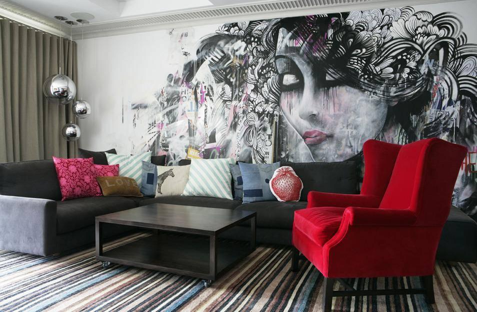 Граффити в интерьере квартиры (20 фото)
