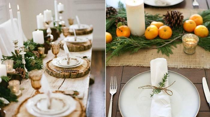 Как сервировать стол на новый год 2021: красивая новогодняя сервировка стола на новый год фото идеи