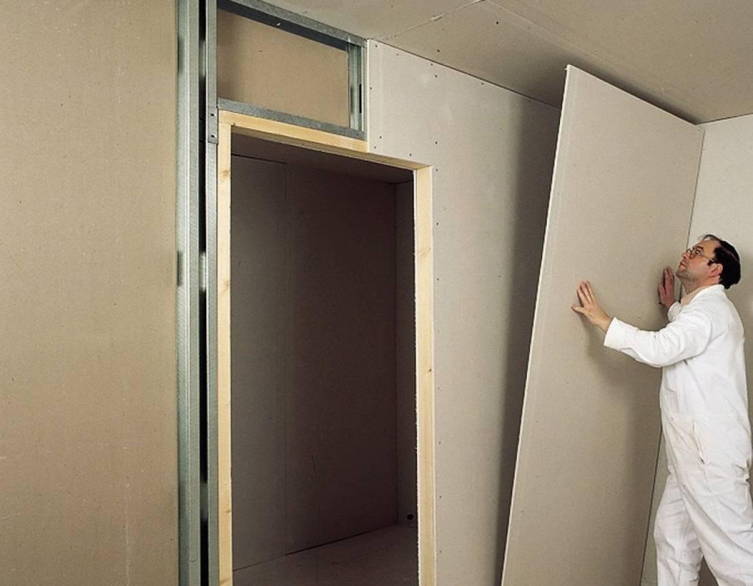 Перегородка из гипсокартона с дверью – особенности и этапы работы