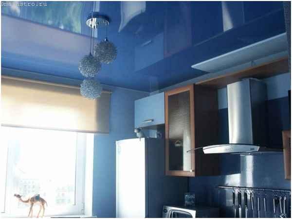 Дизайн натяжного потолка на кухне -100 лучших фото-вариантов в интерьере