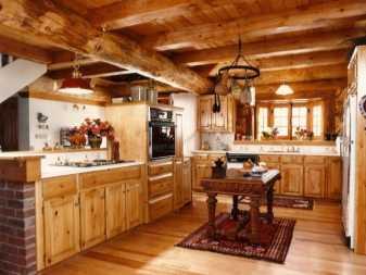 Кухня в русском стиле: оформление интерьера под старинную деревенскую избу