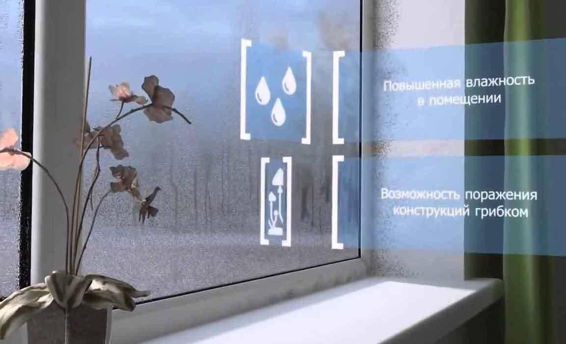 Конденсат на окнах пвх: причины и что делать?
