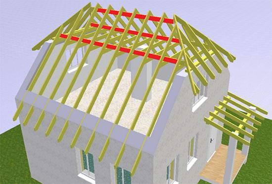 Полувальмовая крыша + фото, чертежи